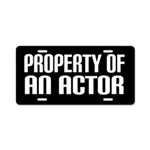 Actor Gift License Plate