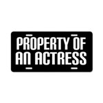 Property Of An Actress License Plate