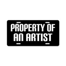 Artist Gift Funny License Plate