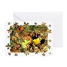 Butterfly/Autumn Scene Greeting Card