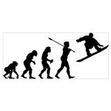 Evolution ski Wrapped Canvas Art