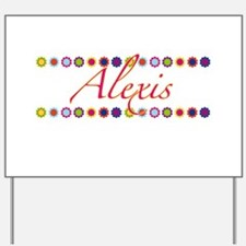 Alexis with Flowers Yard Sign