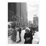 Black and white broadway Wrapped Canvas Art