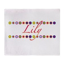 Lily with Flowers Throw Blanket