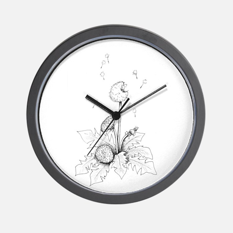Dandelion drawing Wall Clock