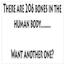206 Bones in the human body Poster