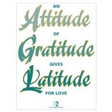 Attitude of gratitude Framed Prints