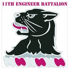 DUI - 11th Engineer Bn with Text Poster
