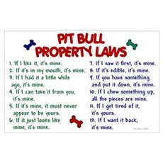 Pit Bull Property Laws Poster