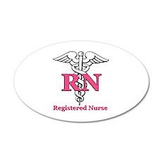 Registered Nurse 22x14 Oval Wall Peel