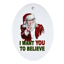 Believe Ornament (Oval)