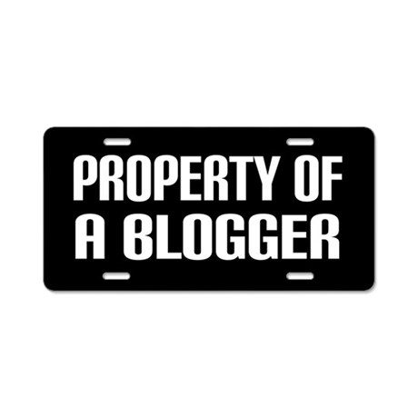 Property Of A Blogger License Plate
