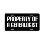 Genealogist Gift License Plate
