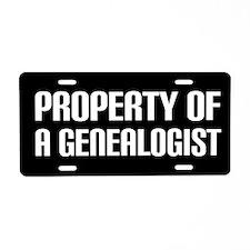 Genealogist Gift License Plate