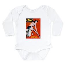 Flirt Pin Up Girl in Black Long Sleeve Infant Body