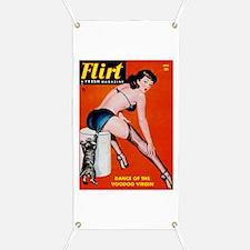 Flirt Pin Up Girl in Black Banner