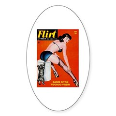 Flirt Pin Up Girl in Black Decal