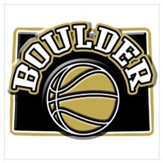 Boulder Basketball Framed Print