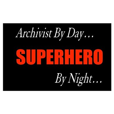 Superhero Archivist Canvas Art