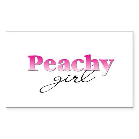 Peachy girl Rectangle Sticker