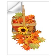 Country Fall Basket Wall Decal