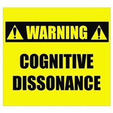WARNING: Cognitive Dissonance Poster