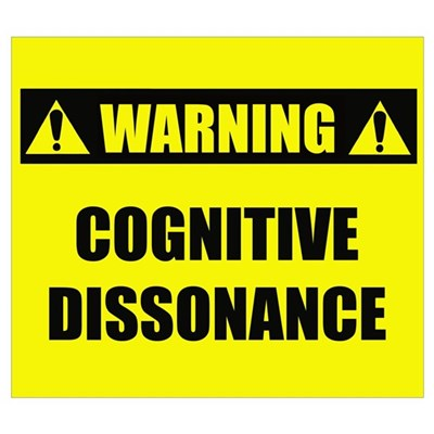 WARNING: Cognitive Dissonance Framed Print