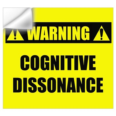 WARNING: Cognitive Dissonance Wall Decal