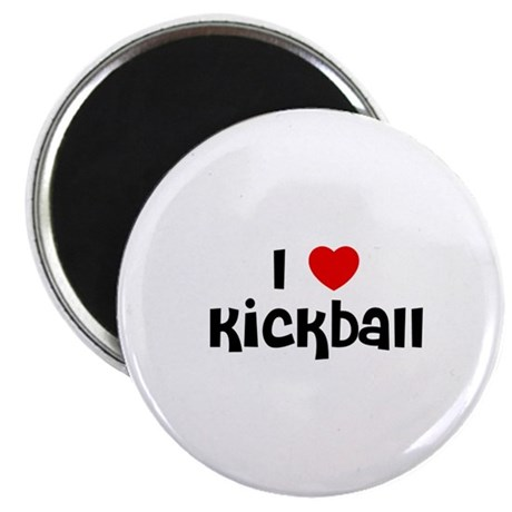"""I * Kickball 2.25"""" Magnet (10 pack)"""