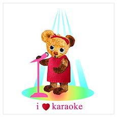 Singing Teddy Bear Poster