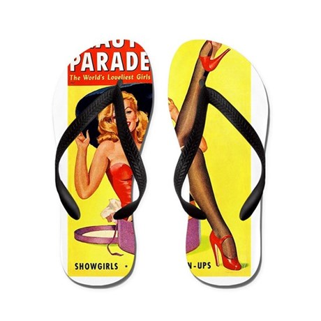 Beauty Parade Pinup with New Hat Flip Flops