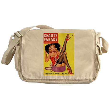 Beauty Parade Pinup with New Hat Messenger Bag