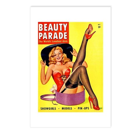 Beauty Parade Pinup with New Hat Postcards (Packag