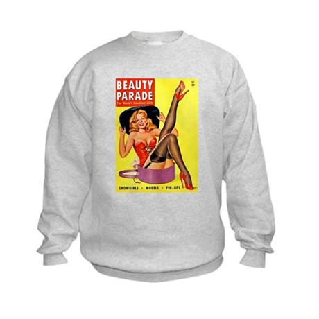 Beauty Parade Pinup with New Hat Kids Sweatshirt