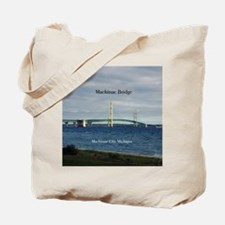 Mackinaw Bridge From City Tote Bag