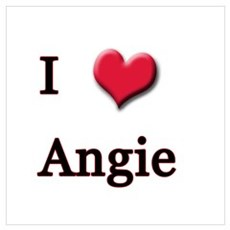 I Love (Heart) Angie Poster