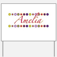 Amelia with Flowers Yard Sign