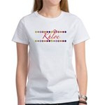 Khloe with Flowers Women's T-Shirt