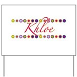 Khloe with Flowers Yard Sign