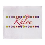 Khloe with Flowers Throw Blanket