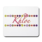 Khloe with Flowers Mousepad