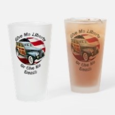 Packard Woodie Drinking Glass