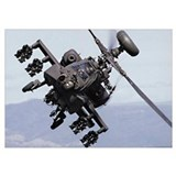 Apache helicopter Wrapped Canvas Art