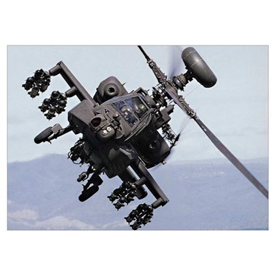 Apache Attack US Army gift idea Poster
