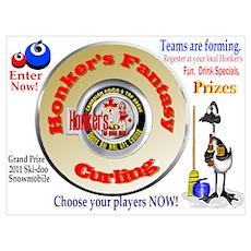 Honker's Fantasy Curling Poster