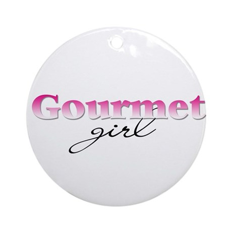 Gourmet girl Ornament (Round)