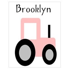 Brooklyn - Pink Tractor Poster