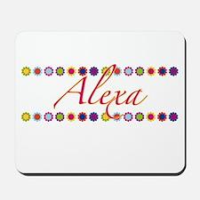 Alexa with Flowers Mousepad