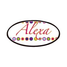 Alexa with Flowers Patches