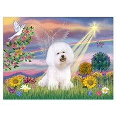 Cloud Angel & Bichon Poster